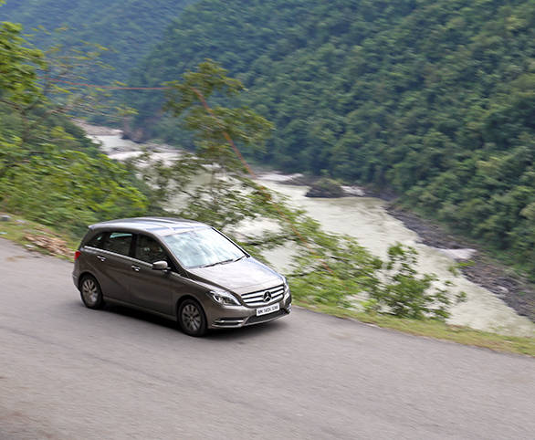 driving to rishikesh in a mercedes benz b class overdrive