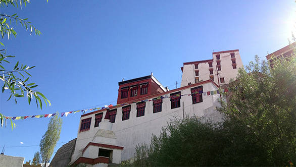 The climb to the terrace of Thiksey monastery is worth the view