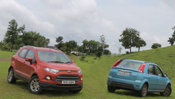 2013 Ford EcoSport diesel vs Mahindra Verito Vibe