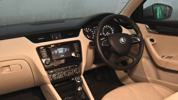 The Octavia interiors strikes no resemblance with previous generation models but it is still very much a Skoda
