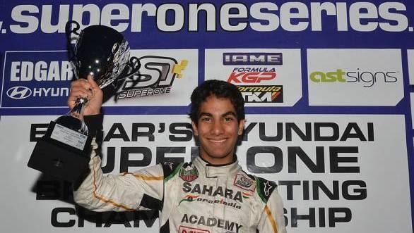Jehan Daruvala wins the British KF3 championship
