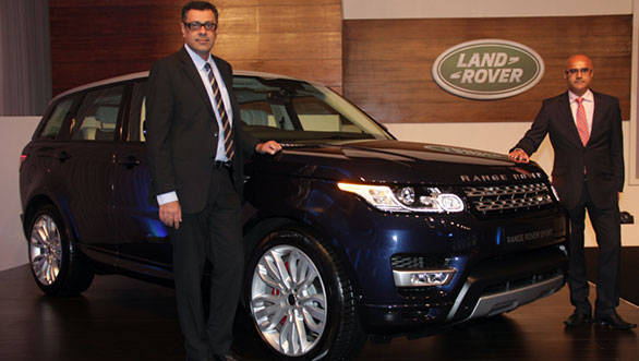 Rohit Suri, Vice President, Jaguar & Land Rover India and Mr. Del Sehmar, Head of PR and Communications at the India launch of the all-new Range Rover Sport.
