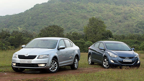2013 Skoda Octavia vs Hyundai Elantra in India
