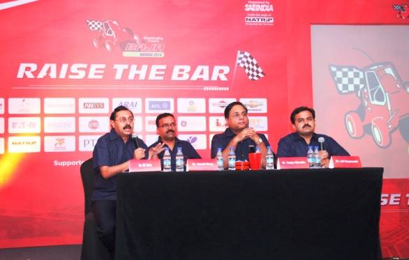 Organising committee of Mahindra presents BAJASAE India 2014 at press conference in Pune