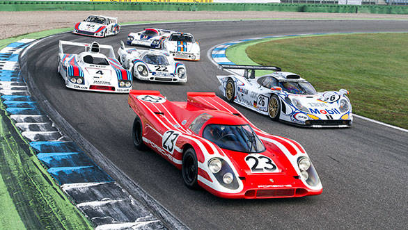 Porsche's historic Le Mans cars at Hockenheim