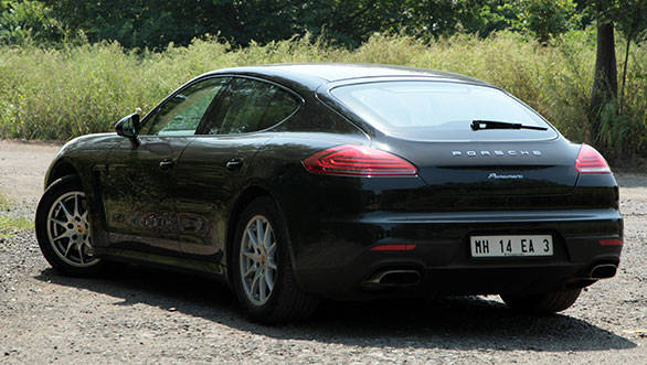 Cayman-like tailamps, a new bootlid and a larger spoiler make for a more palatable rear end