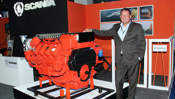 Scania launches marine engines in India