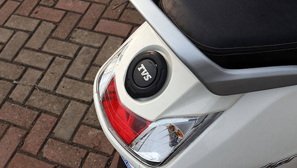 The Jupiter has a fuel filler cap that's located on the tail which negates the need to get off the scooter and open the seat to fill up