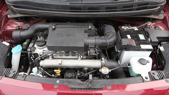 The Hyundai uses a brand new 3-cylinder 71PS engine