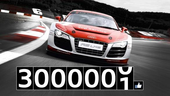 Audi India's Facebook page now has more than 3 million fans