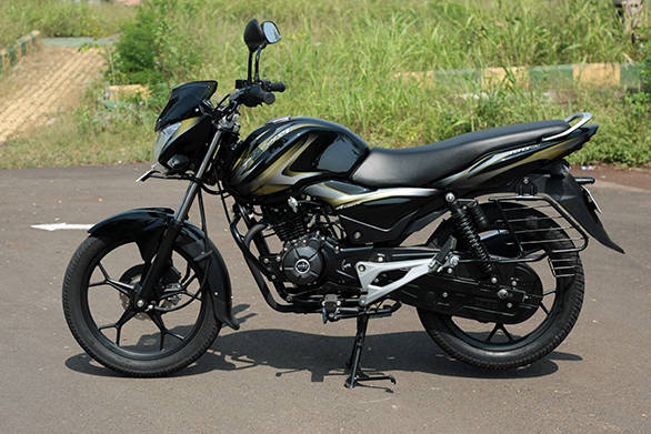 Bajaj have chosen to stick with the design of the Discover, but the 100M is smaller than its siblings.