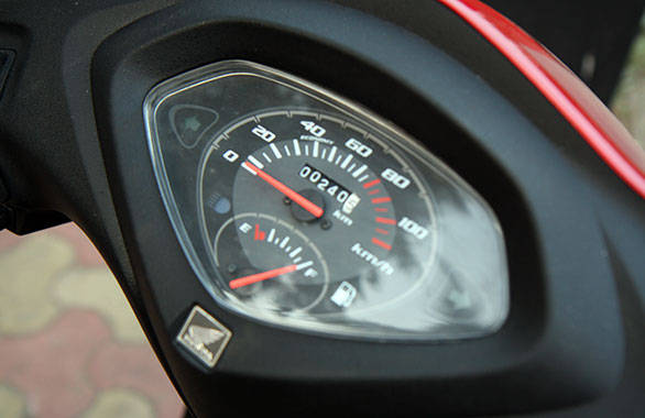 The Activa has very simple meters