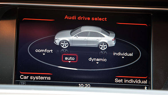 The 177PS diesel A4 also gets Drive Select