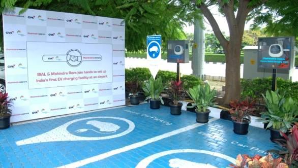 Mahindra Reva installs charging station at Bangalore International Airport