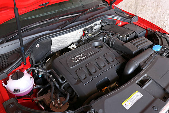 It uses the same 2-litre diesel as the other diesel Q3s, but on the S, the engine makes 140PS