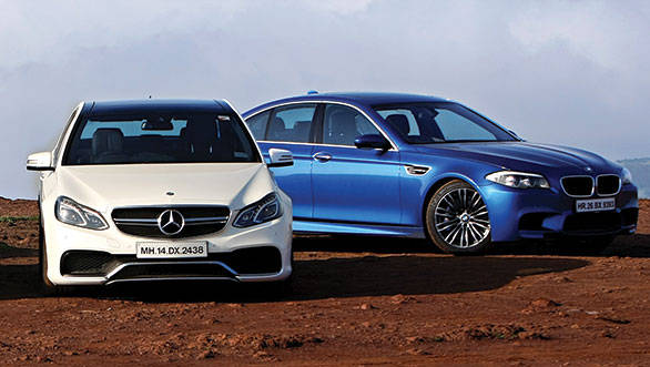 The E63 AMG and the BMW M5