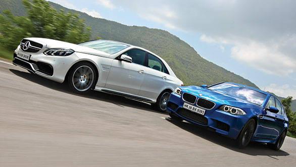 2014 Mercedes-Benz E63 AMG vs BMW M5 in India