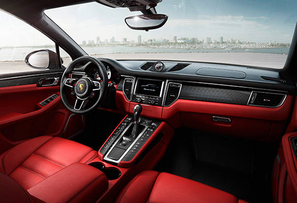 From the low front seats, the sloping centre console, the display and operation concept, the interiors are typically Porsche