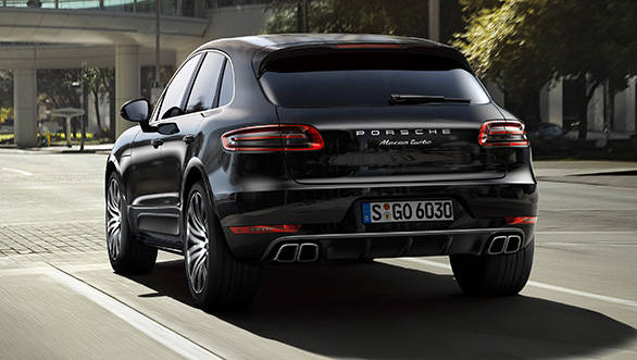 The rear lights on the Macan are LEDs and the diffuser is flanked on both sides by twin tailpipes