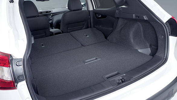 The boot space in the new Qashqai is up by 20 litres taking overall tally to 430 litres now