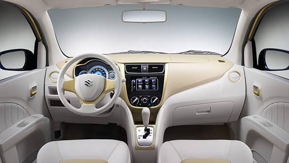 On the inside, the concept gets light shades as dual-tones