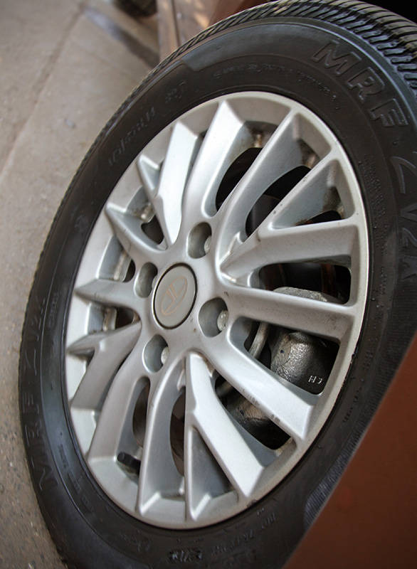 The 14-inch alloy wheel design is also new