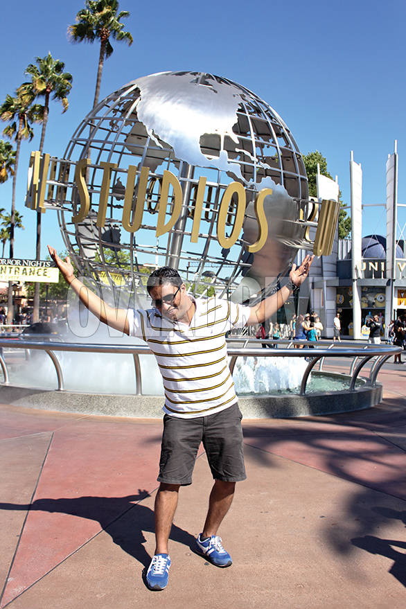 Monkeying around at the Universal Studio's theme park