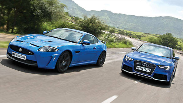 One is manic and the other refined. But both these V8 coupes are a celebration of driving