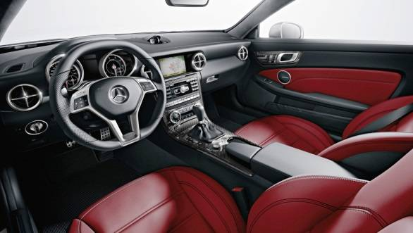The interiors get a start/stop button, aluminium and carbonfibre inserts and abundant Nappa leather on the upholstery