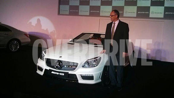 Mercedes drives the Rs 1.26 crore, two-door sportscar, the SLK55 AMG into India