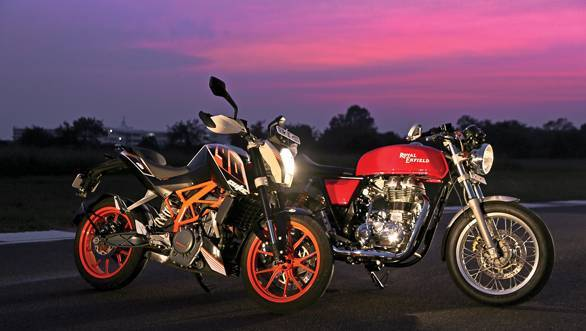 Royal Enfield Continental GT vs KTM 390 Duke