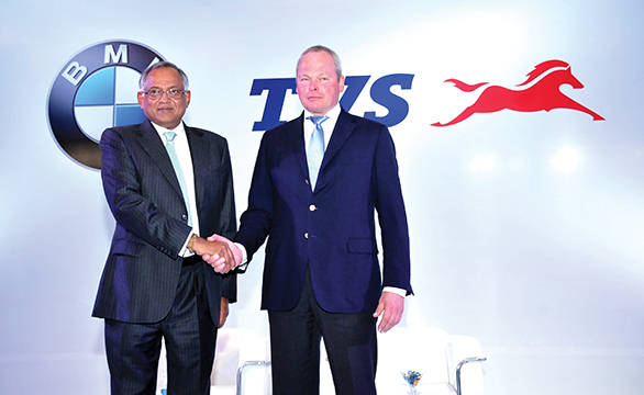 Venu Srinivasan, Chairman TVS Motor Company with Stephan Schaller, President BMW Motorrad