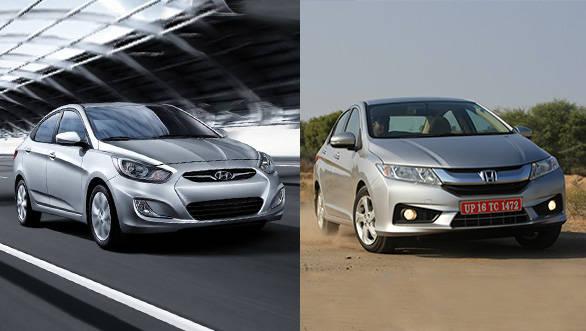 Spec shootout: 2014 Honda City diesel vs Hyundai Verna diesel