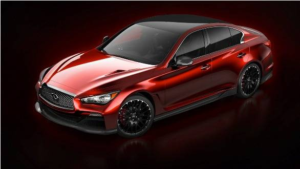 The Q50 Eau Rouge concept features considerable styling revisions and sits wider and lower to the ground