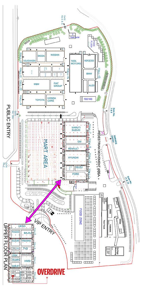 Auto Expo Site Plan