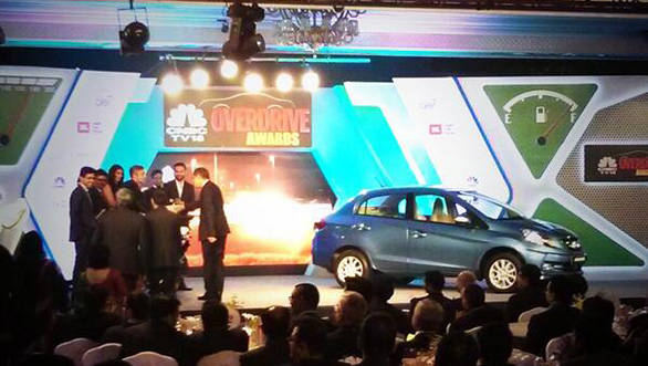 Honda Amaze at the OVERDRIVE awards 2014