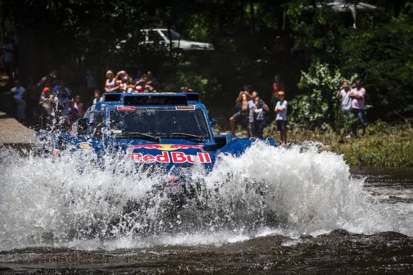 Carlos Sainz takes the Red Bull Buggy to the top of the timing sheets in the car category