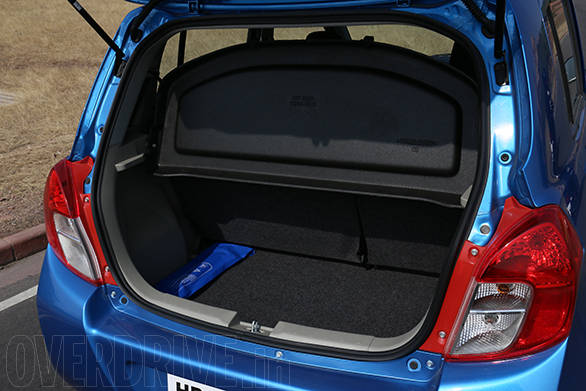 Boot space of the Celerio