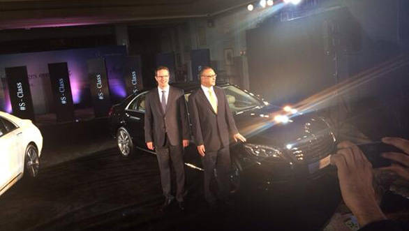 Mercedes officials with the new S-Class