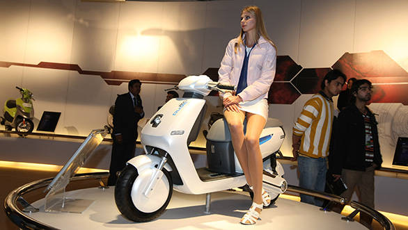 TVS Qube concept shown at the 2012 expo
