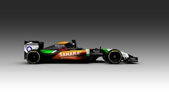 The first 2014 F1 car breaks cover - Sahara Force India VJM07