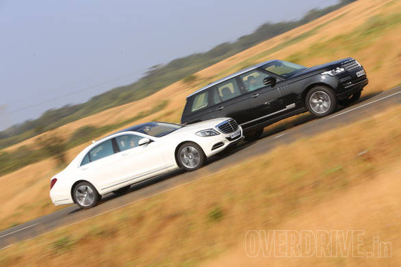 2014 mercedes benz s class vs range rover autobiography for Mercedes benz rover
