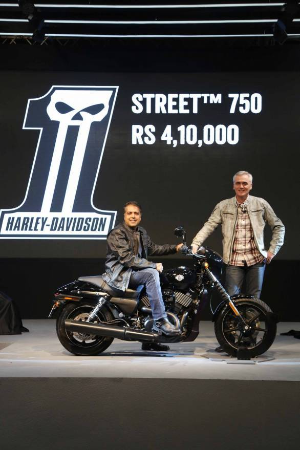 Anoop Prakash MD Harley Davidson India and Marc McAllister MD and VP APA...