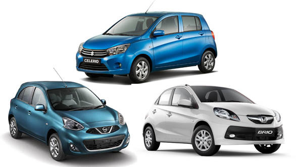Spec shootout: Maruti Celerio AMT vs Honda Brio AT vs Nissan Micra CVT