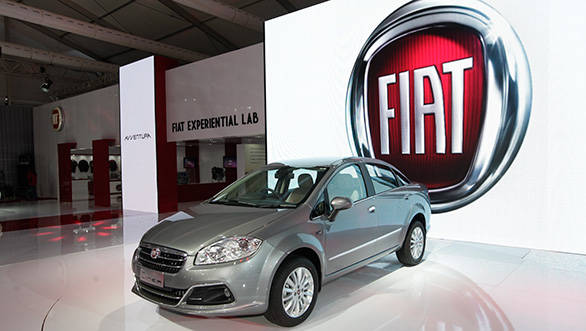 2014 Fiat Linea at the Auto Expo