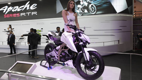 2014 Auto Expo: TVS showcases the Draken concept