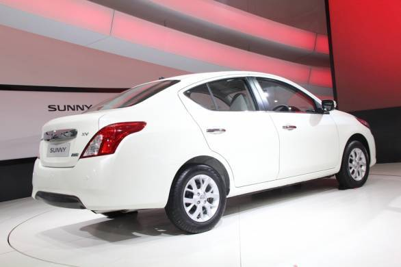 New Nissan Sunny at DAE 2014 - Back