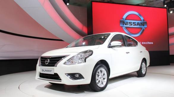 New Nissan Sunny at DAE 2014 - Front