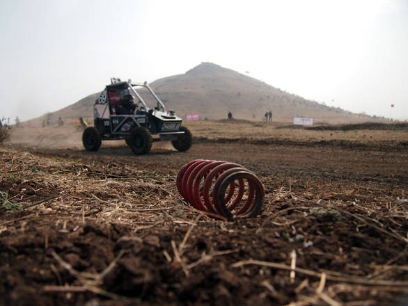 At the end of the day the side of the race track was littered with parts that had fallen off