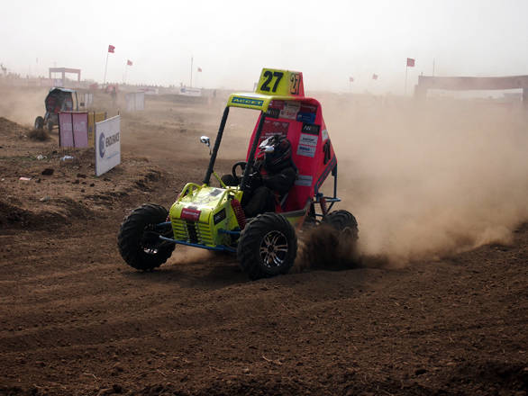 The Alagappa Chettiar College of Engineering and Technology buggy stood out with its bright colours